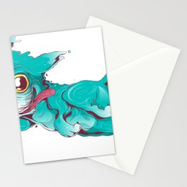 Bull dog crazy and farter Stationery Cards