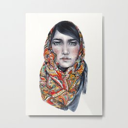 Russian Girl Metal Print