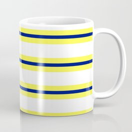 Nautical Yellow, White and Navy, Crisp and Clean Lines Coffee Mug