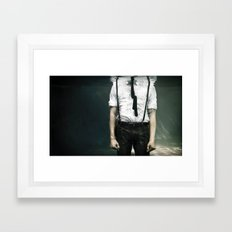 abyss of the disheartened VIII Framed Art Print