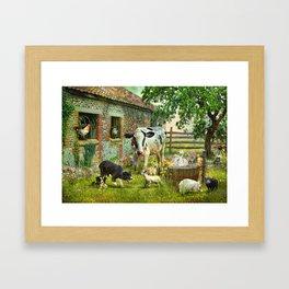 Barnyard Chatter Framed Art Print