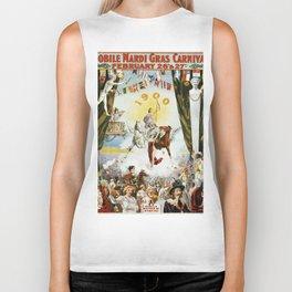 Vintage poster - Mobile Mardi Gras Biker Tank