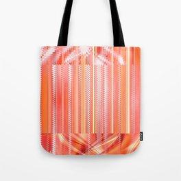 mixed Pattern orange Tote Bag