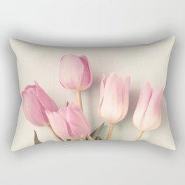 Soft Pink tulips Rectangular Pillow
