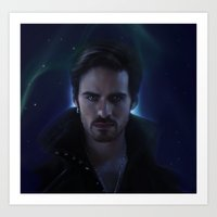 captain hook Art Prints featuring Hook by LindaMarieAnson