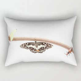 beetle and butterfly Rectangular Pillow