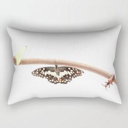 beetle and butterfly Rectangular Pillow