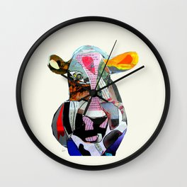 the mod cow  Wall Clock