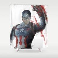 captain silva Shower Curtains featuring Captain by Alba Palacio