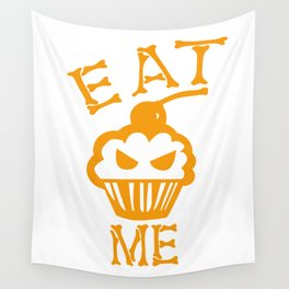 Eat me yellow version Wall Tapestry