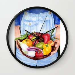 Fruits of Her Labour Wall Clock