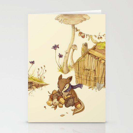 Harvey the Greedy Chipmunk Stationery Cards