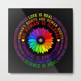 Science Is Real - Black Lives Matter Gift Metal Print