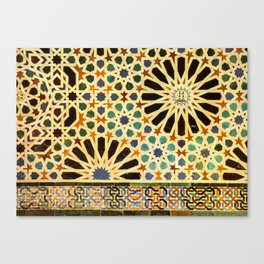 """""""Mexuar room"""". Details in The Alhambra Palace.  Canvas Print"""