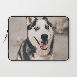 Cute puppy by Andre Tan Laptop Sleeve