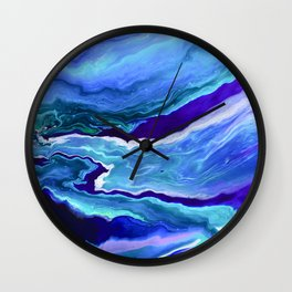 Dreamy Fluid Abstract Painting Wall Clock