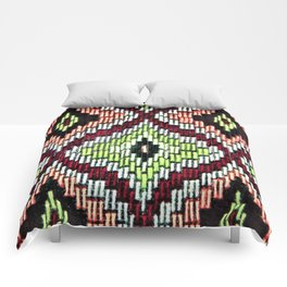 Bargello hourglass -  does anyone really know what time it is? Comforters
