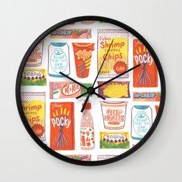 Asian Snacks Wall Clock
