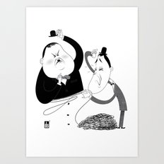 Laurel and Hardy  Art Print