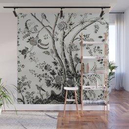 Peacock Tree Natural Wall Mural