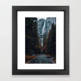 Upper and Lower Yosemite Falls Framed Art Print