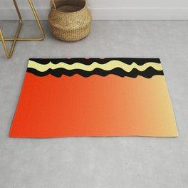 Colore Orange Morocco Rug