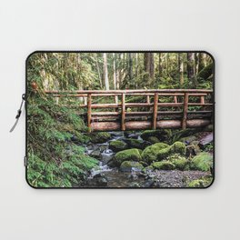 Wanderlust Beauty // Take Me to the Forest Where the Peaceful Waters Flow in the Dense Woods Laptop Sleeve