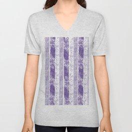 Lilac watercolor paint brushstrokes confetti stripes Unisex V-Neck