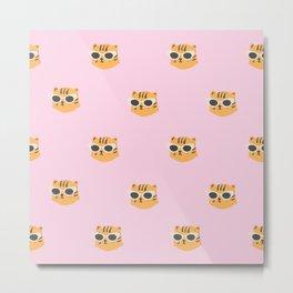 Pink sassy leopard Metal Print