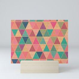 Colorful diamonds print, stone effect Mini Art Print