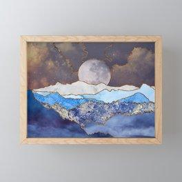 Moonlit Mountains Framed Mini Art Print