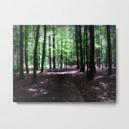 Warm Wood Metal Print