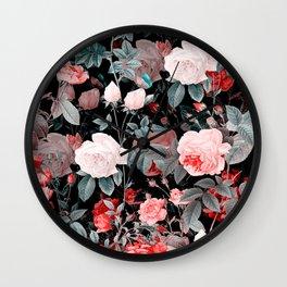 Botanic Floral Wall Clock