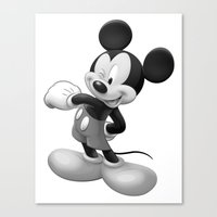mickey Canvas Prints featuring Mickey by loveme