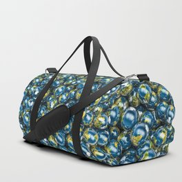 Earths / 3D render of Earth globes Duffle Bag