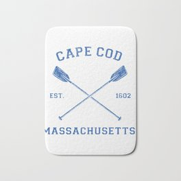 Womens Vintage Cape Cod Vacation V-Neck Gift Bath Mat