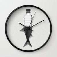 siren Wall Clocks featuring Siren by Repulp