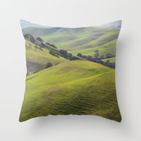 diablo Throw Pillows featuring Diablo Hills by Ryan Fernandez Photography