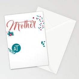 When Mother Is Happy There Is Peace Stationery Cards