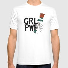 GRL PWR Rose Mens Fitted Tee White MEDIUM