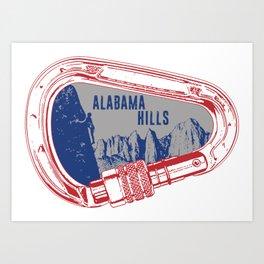 Alabama Hills Climbing Carabiner Art Print