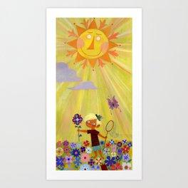 ...and one golden sun Art Print