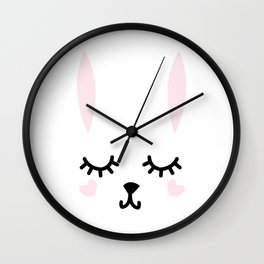 Down the Bunny Hole Wall Clock