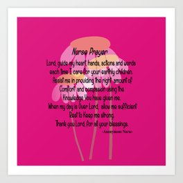 Christian Nurse Prayer Art Print