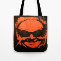 jack nicholson Tote Bags featuring Jack by Ty McKie Creations