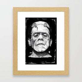 Frankensteins Monster Framed Art Print