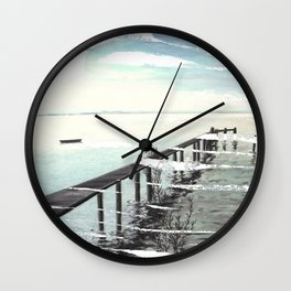 Ammersee in Bavaria - T-Shirt-Design Wall Clock