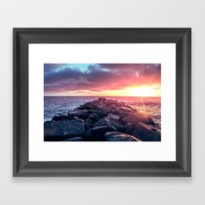 Topaz Jetty Framed Art Print