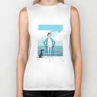 steve zissou Biker Tanks featuring THE LIFE AQUATIC WITH STEVE ZISSOU (Wes Anderson, 2004) by Mario Morales