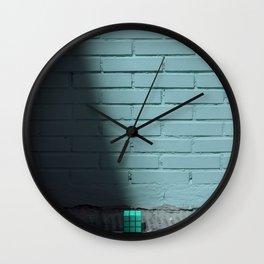 Blue and shady cube Wall Clock